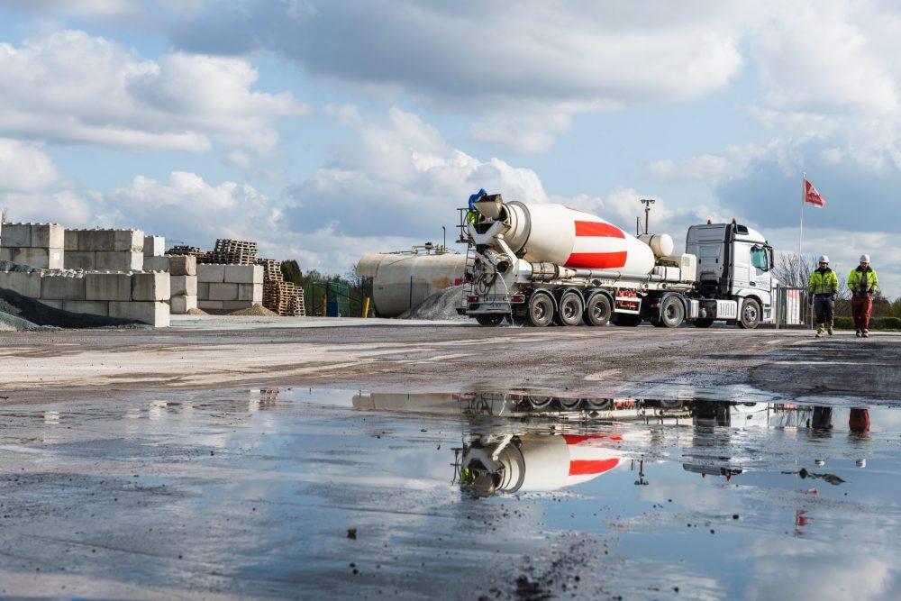 concrete mixer asset tracking
