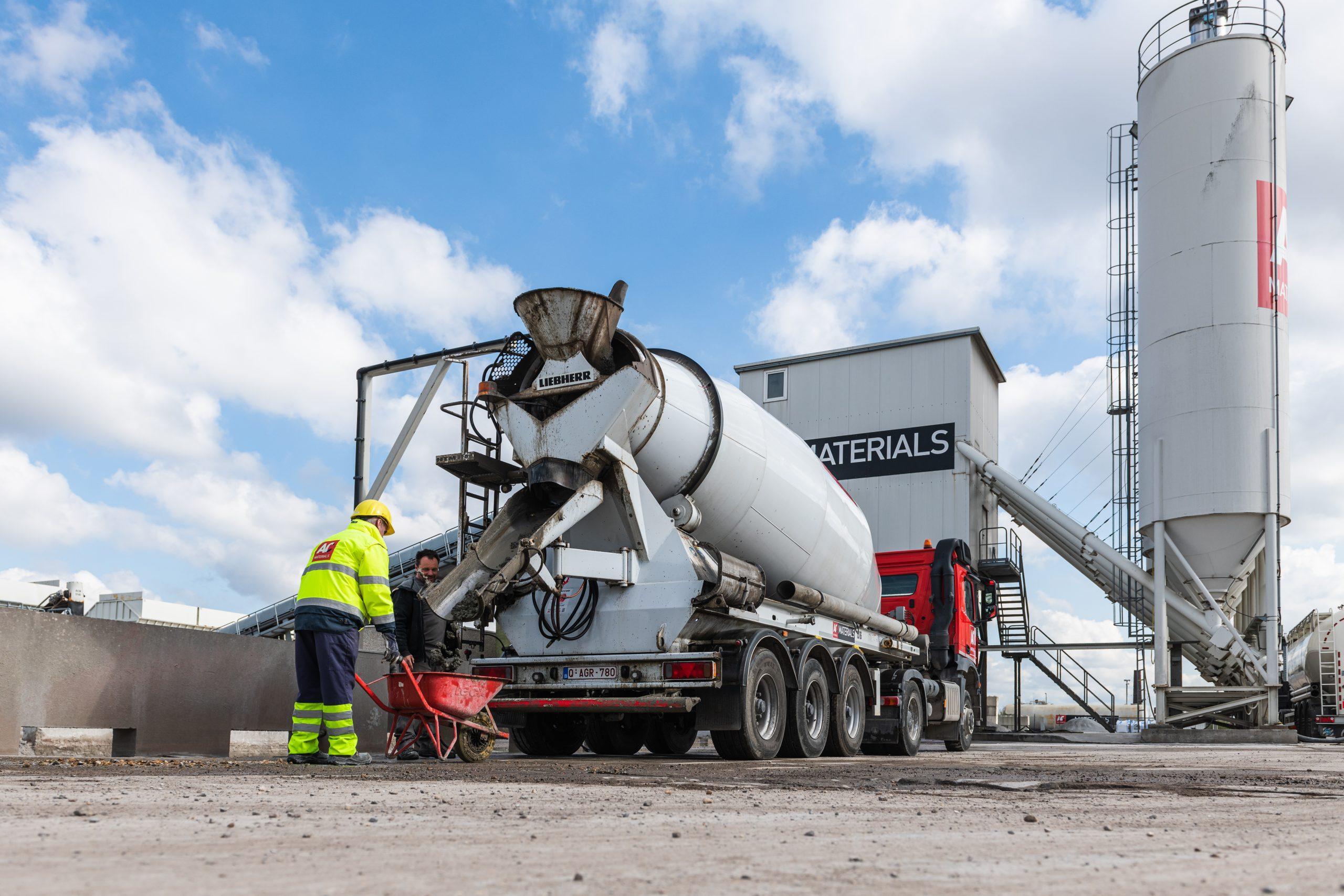 tracking concrete mixer